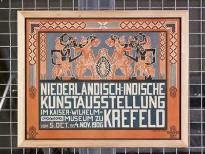 Affiche Niederländisch-Indische Kunstausstellung in Krefeld, 1906
