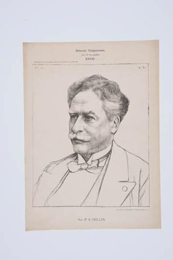 Portret van prof.dr. H. Snellen