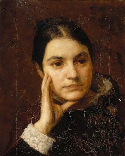 Portret van Martha van Eeden-van Vloten
