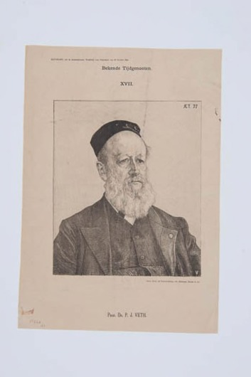 Portret Prof Dr. P.J. Veth