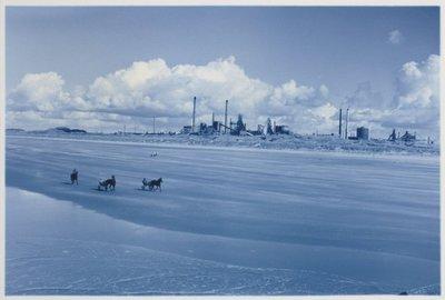 Noordelijk vanaf de Noorderpier, zuidelijk vanuit Wijk aan Zee. <br> Hoogovens.; NL-HlmNHA_559_041977_014; Provinciale Atlas - Foto's NL-HlmNHA_559_041977_014
