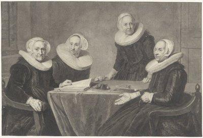 <br>St.Elisabethsgasthuis, Regentessen, 1641<br>Teekening in O.I.inkt, c. 1800, naar schilderij van J.Verspronck, 1641<br>; NL-HlmNHA_53002813; Kennemerland NL-HlmNHA_53002813