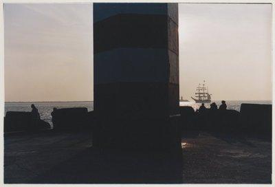 Noordelijk vanaf de Noorderpier, zuidelijk vanuit Wijk aan Zee. <br> Noordpier.; NL-HlmNHA_559_041977_005; Provinciale Atlas - Foto's NL-HlmNHA_559_041977_005