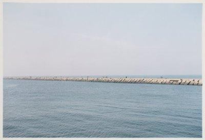 Noordelijk vanaf de Noorderpier, zuidelijk vanuit Wijk aan Zee. <br> Noordpier.; NL-HlmNHA_559_041977_007; Provinciale Atlas - Foto's NL-HlmNHA_559_041977_007