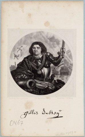 122 x 123 mm. 0467; NL-HlmNHA_587_000467_K; Provinciale Atlas - Portretten NL-HlmNHA_587_000467_K