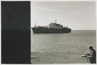 Noordelijk vanaf de Noorderpier, zuidelijk vanuit Wijk aan Zee. <br> De Seri Cedar, Noordpier.; NL-HlmNHA_559_041977_004; Provinciale Atlas - Foto's NL-HlmNHA_559_041977_004