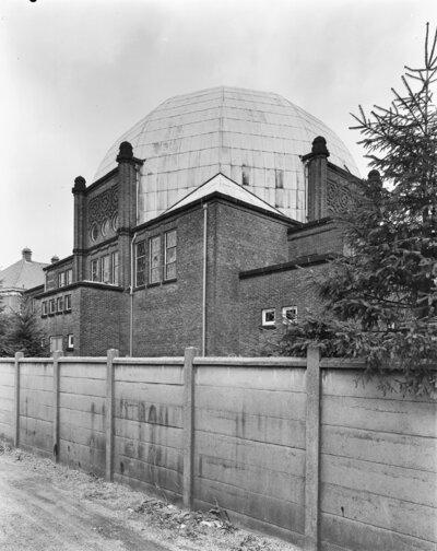 Image from object titled De achterzijde van de synagoge te Enschede