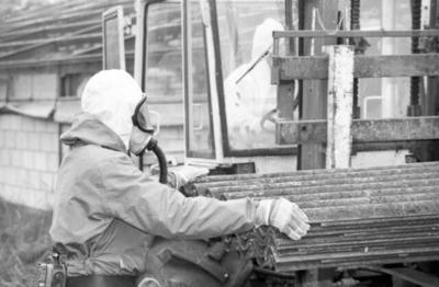 Image from object titled kippenboerderij Den Hollander, verwijderen van asbest