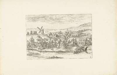 Landschap met een rivier en een windmolen; Landschappen rond Antwerpen