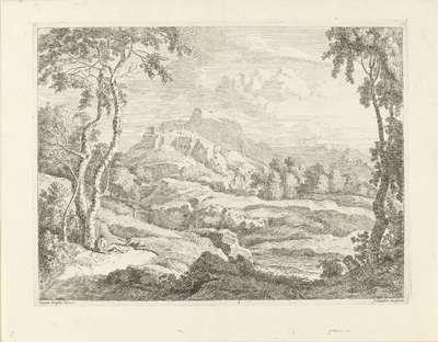 Landschap met herders; Landschappen naar Gaspar Poussin