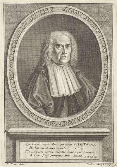 Portret van Michael Angelus Tillius