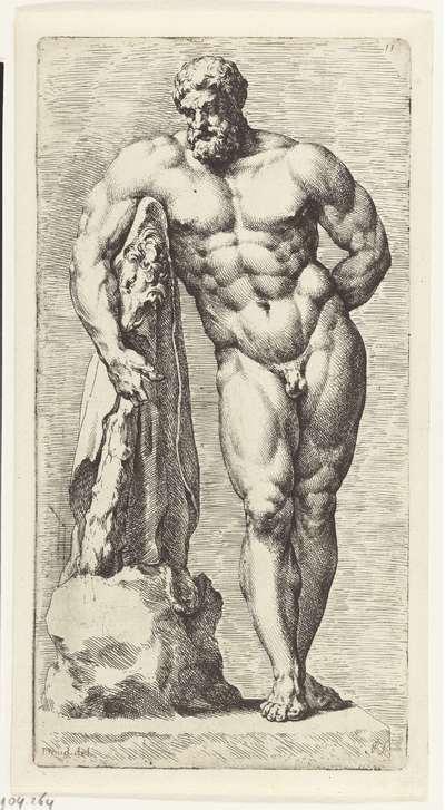Staande Hercules; Signorum Veterum Icones I