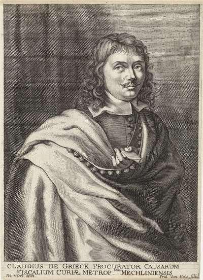 Portret van Claudius de Grieck