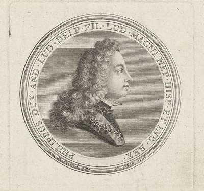 Medaillon met het portret van Filips IV van Spanje