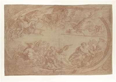 Allegorie op de afscheiding van de kunstenaars uit het Haagse St. Lucasgilde