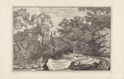 Landschap met een herder en zijn kudde; Arcadische landschappen; Eenige Landschappen