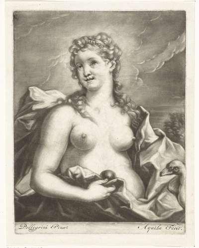 Venus met een zwaan en een appel