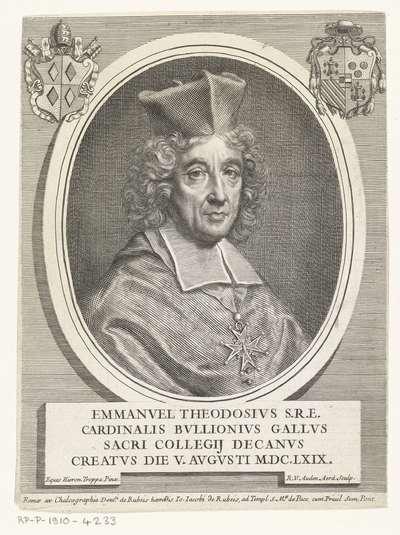 Portret van kardinaal Emmanuel Théodose de Bouillon