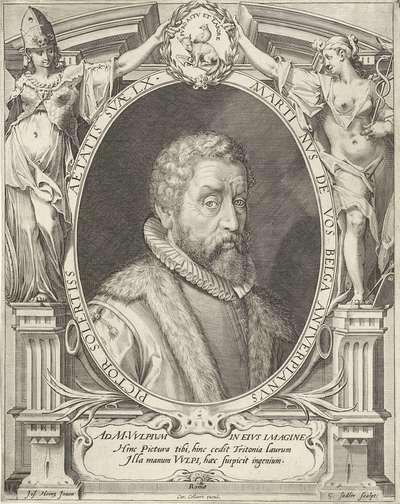 Portret van Maerten de Vos op 60-jarige leeftijd