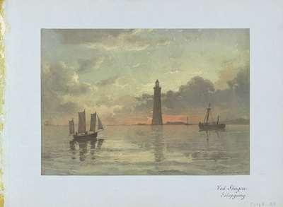 Zonsopgang naar schilderij van C. Frederick Sörensen; Ved Skagen Solopgang.