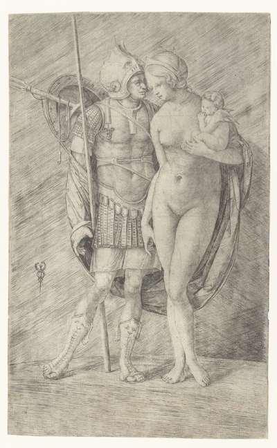 Image from object titled Mars in wapenrusting en naakte Venus met Cupido