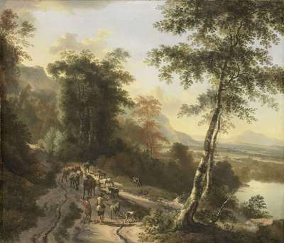 Image from object titled Landscape with Cattle Drivers
