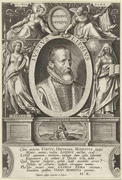 Portret van Justus Lipsius; Ivstvs Lipsivs