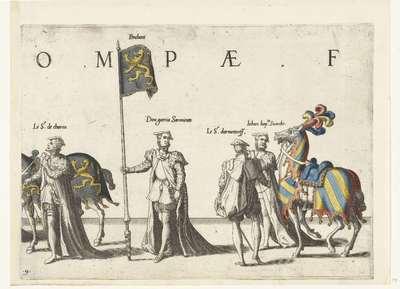 Deel van de optocht, nr. 9; Begrafenisoptocht van keizer Karel V, 1558