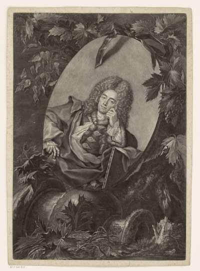 Portret van Christian Ludwig Agricola
