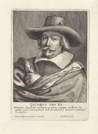 Portret van Jacob Foppens van Es; Portretten van kunstenaars; Image de divers hommes desprit sublime