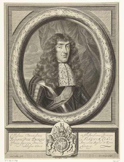 Portret van James Stuart, hertog van York en Albanië, in ovale omlijsting