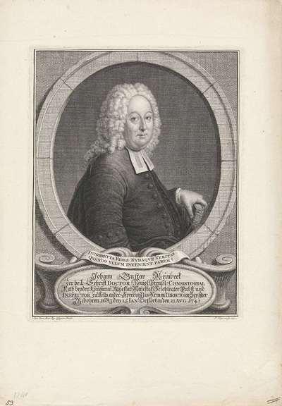 Portret van Johann Gustav Reinbeek