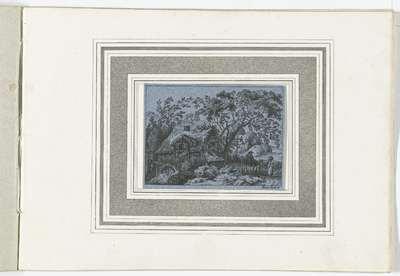 Landschap met watermolen; Landschappen naar Kobell; 120 Radierungen nach F. Kobell