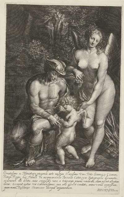 Mercurius en Venus onderwijzen Amor