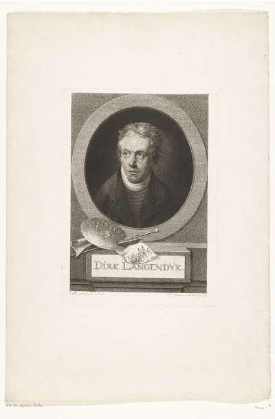 Portret van Dirk van Langendijk