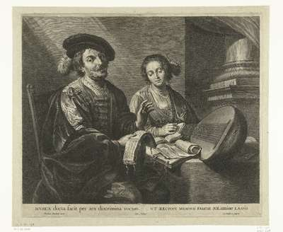The Painter Theodoor Rombouts and his Wife with Sheet Music and a Lute