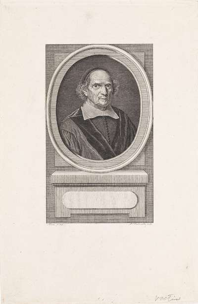 Portret van de theoloog Gisbertus Voetius