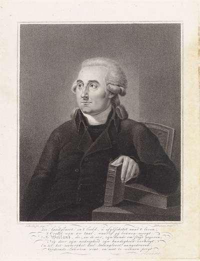 Portret van Pieter Weiland, taalkundige en remonstrants predikant