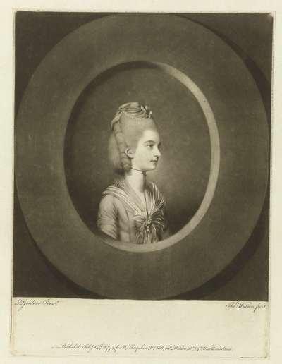 Portret van Frances, Countess of Jersey