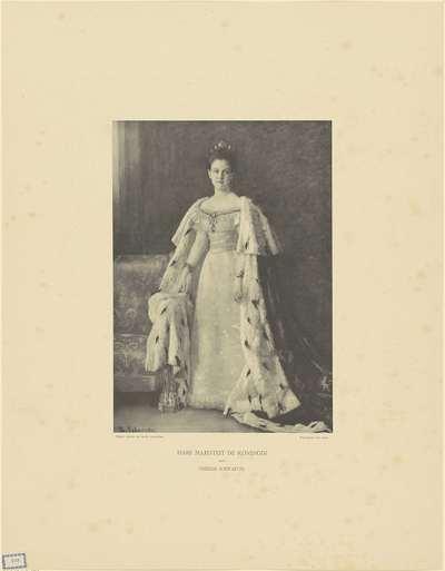 Portret van Wilhelmina, koningin der Nederlanden