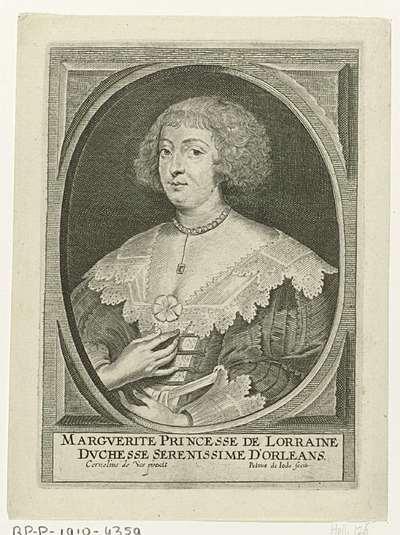 Portret van Margaretha van Lotharingen, gravin van Orléans; Theatrum pontificum, imperatorum, regum, ducum (...)