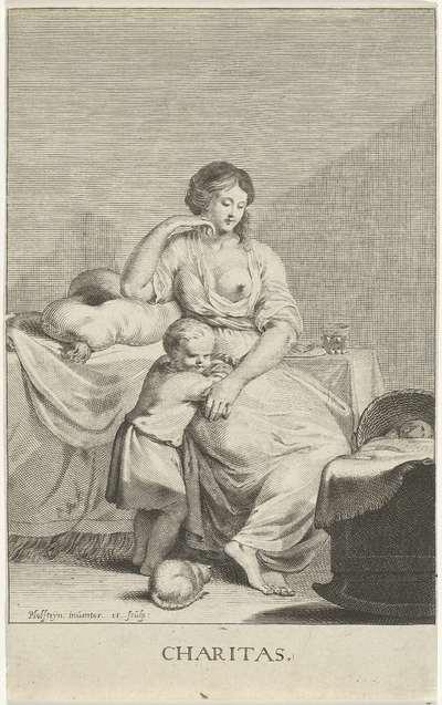 Moeder met kinderen; Charitas