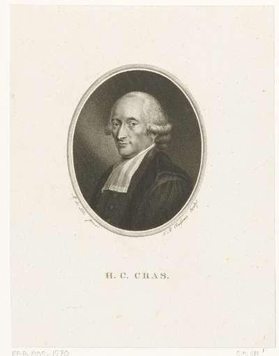 Portret van Hendrik Constantijn Cras
