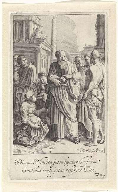 Jona preekt in Nineve; Verhaal van Jona