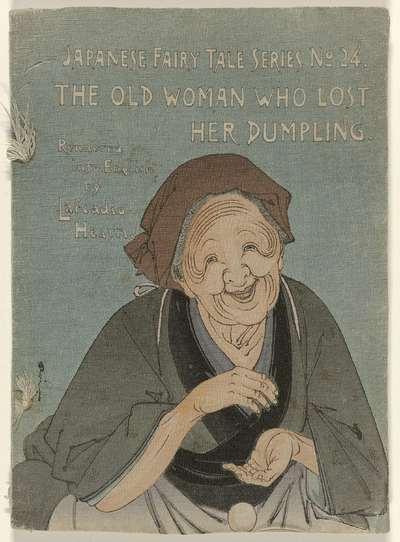 Image from object titled De oude vrouw die haar knoedel verloor; The old woman who lost her dumpling; Japanse Sprookjes serie, nummer 24; Japanese Fairy Tale Series No. 24