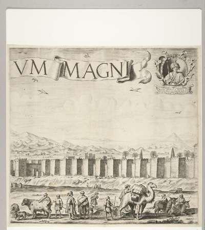 Het paleis van de sultan van Marokko (plaat 2), 1640-1641; Palatium Magni Regis Maroci, in Barbaria