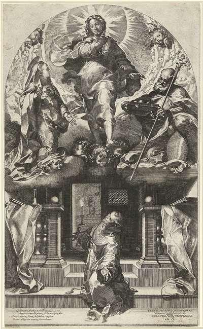 Christus verschijnt aan de Heilige Franciscus; Il perdono di San Francesco