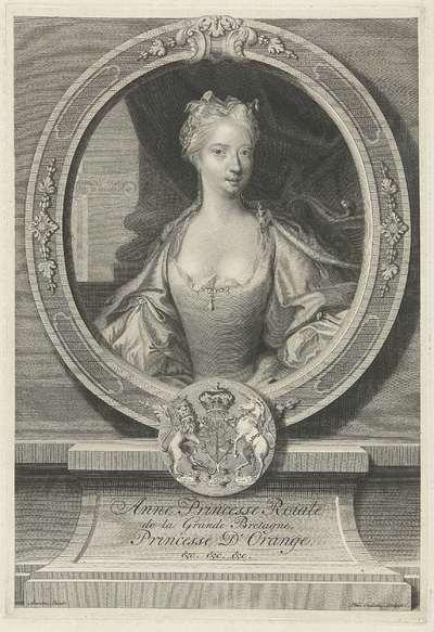 Portret van Anna van Hannover; Anne Princesse Roiale de la Grande Bretagne, Princesse D'Orange