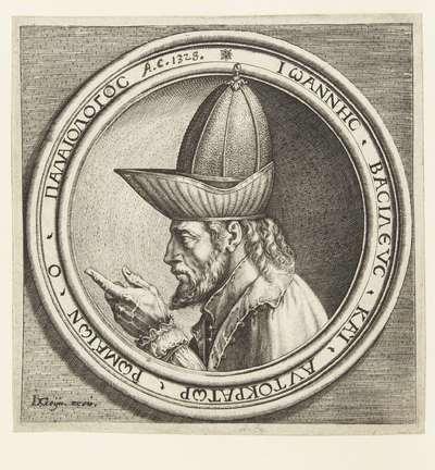 Portret van Johannes VIII Paleologos; Vier portretten naar Italiaanse penningen uit de Renaissance