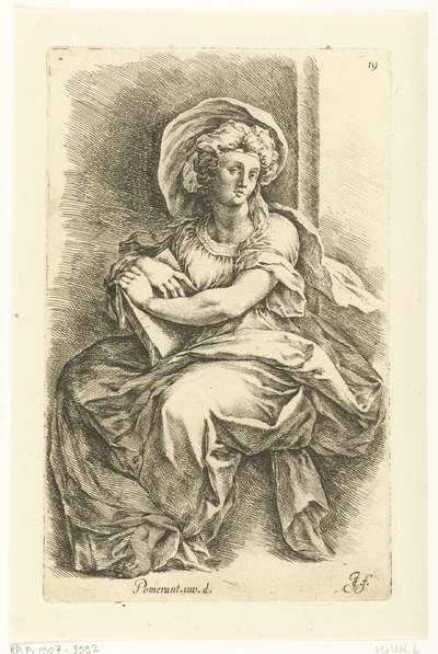 Mirjam, de zus van Mozes of een Sibille; Paradigmata graphices variorum artificum